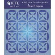 Judikins 15cm Square Kite Stencil-Island Quilt