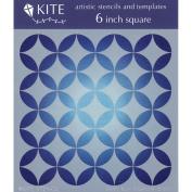 Judikins 15cm Square Kite Stencil-Retro Diamonds