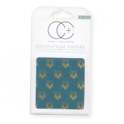Craft Consortium Decoupage Printed Paper Pack of 3 - CP112 Stag Repeat