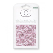 Craft Consortium Decoupage Printed Paper Pack of 3 - CP209 Blush Rose MID