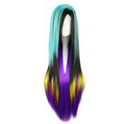 """Mcoser 31.5"""" 80cm Harejuku Women's Multicolor Long Straight Fashion Wig Party Hair"""