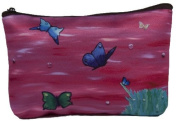 Butterfly Cosmetic Bag, Zip-top Closer - Taken From My Original Paintings