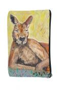 Kangaroo Cosmetic Bag, Zip-top Closer - Taken From My Original Paintings