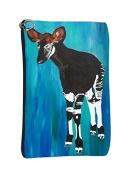Okapi Cosmetic Bag, Zip-top Closer - Taken From My Original Paintings
