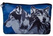 Wolves Cosmetic Bag, Wolf Zip-top Closer - Taken From My Original Paintings