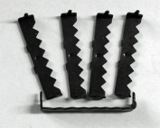 Large No Nail Sawtooth Picture Hangers - Black Plated 500-Pack