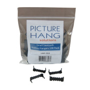 100 Sawtooth Picture Hangers No Nail - 2.5cm - Black