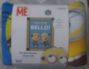 No Sew Throw Fleece Kit - Despicable Me - Minions - Yellow Bello
