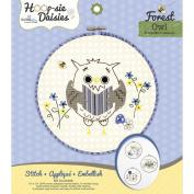 Owl Hoop-sie Daisies Embroidery Kit-22cm Round
