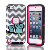 iTouch 5 Case, SAVYOU iPod Touch 5 Case Wave Owl Pattern Full Body Hybrid Impact Shockproof Defender Case Cover for Apple iPod Touch 5 5th Generation