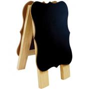 Wood Craft DIY Chalk/Whiteboard Easel 9.2cm x 16cm -
