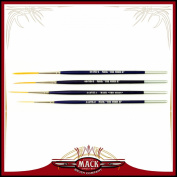 Set of 4 Size 0-4 Series 444VII The Virus II Scrolling Script Pinstriping Brush With Soft Golden Synthetic Hair