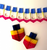 3-piece Hanukkah Dreidel Decoration Set