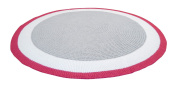 Spot On Square Trio Crocheted Cotton Rug, Pink