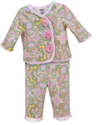 Stephan Baby Nappy Cover and Jacket Set with Pink Organza Rosettes, Pretty In Paisley