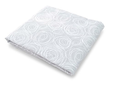 Spot On Square Spun Organic Cotton Percale Fitted Crib Sheet, Grey
