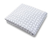 Spot On Square Join Organic Cotton Percale Fitted Crib Sheet, Grey
