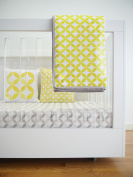 Spot On Square Tops Organic Cotton Twill Quilt, Yellow