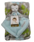Plush Monkey Nunu and Blanket Baby Gift Set