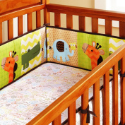 100% Cotton Percale Crib Bumper Pad- Safari