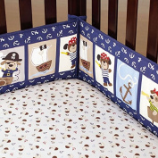 100% Cotton Percale Crib Bumper - Caribbean Pirates