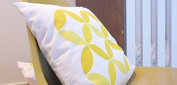Spot On Square Big Tops Organic Cotton Twill Pillow, Yellow