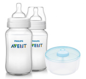 Philips Avent Classic Plus BPA Free Bottles with Formula Dispenser, 330ml
