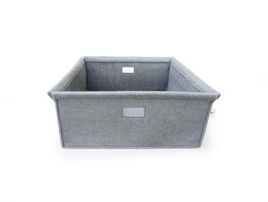 Spot On Square Wool Felt Bin, Grey