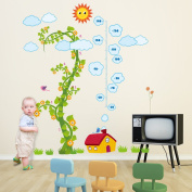 Walplus Nursery Magic Bean Grow Chat Wall Stickers - Home Decoration, 135Cm X 160Cm, Pvc, Self-Adhesive, Removable, Multi-Colour