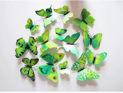 Cutelyn Decor Sticker 3D Butterfly 12PCS Removable Mural Wall Stickers Wall Decal for Home Decor