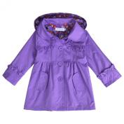 Arshiner Girl Kid Flower Waterproof Hooded Coat Jacket Outwear Raincoat