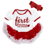 Cute Red White Sparkly First Christmas Dress Baby Girl Holiday Outfit