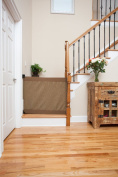 The Stair Barrier Signature Mocha Bannister-to-Wall Regular 90cm - 110cm inches
