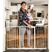 Regalo - Extra Wide Widespan Children's Home Safety Gate PVC Free with 3 Extensions 80cm Tall, White