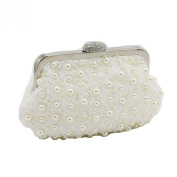 Kingluck Silk Flower with Pearl Women's Bridal Evening Bags