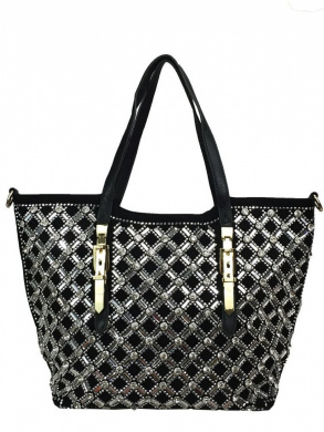 Zzfab Rhinestone Sparkle Handbag Maximum Cross Bling Tote Bag