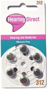 Hearing Aid Batteries Size 312 by Hearing Direct - Pack of 30