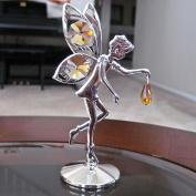 . Prism Fairy Figurine Ornament, Topaz Silver Plated