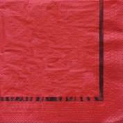 32 Pcs Creative Converting Paper 3 Ply Red Foil Glitz Luncheon Napkins