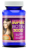 MaritzMayer Laboratories Super Biotin 5000 For Hair Growth, Skin, and Nails Maxium Strength 60 Capsules Per Bottle