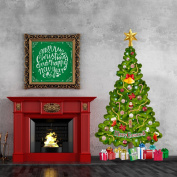 Tree in a Tube Life-size Deluxe Christmas Tree Wall Decal, Reusable and Repositionable, Made in the USA