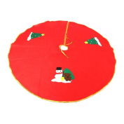 ExGizmo Cute Christmas Tree Decoration Printing Wrap Round Skirt Nonwovens Apron Cloth Gold