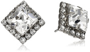 "Sorrelli ""Clear Crystal"" Perfectly Pointed Post Stud Earrings"