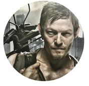 The Walking Dead Daryl TWD Edible Image Photo Cake Topper Sheet Birthday Party - 20cm Round - 77915