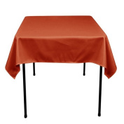 Square Polyester Tablecloth 110cm x 110cm (RUST) By Runner Linens Factory