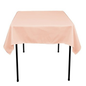 Square Polyester Tablecloth 110cm x 110cm (PEACH) By Runner Linens Factory