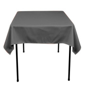 Square Polyester Tablecloth 110cm x 110cm (CHARCOAL) By Runner Linens Factory