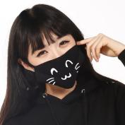 ZWZCYZ Cotton Men and Women Boys and Girls Cute Cat Face Mask Good Boy Anti-dust Mouth Mask Cute Muffle Muzzle