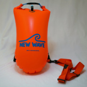 New Wave Swim Buoy for Open Water Swimmers and Triathletes - Light and Visible Float for Safe Training and Racing