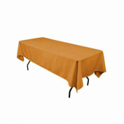 Rectangular Polyester Tablecloth 140cm x 180cm (MUSTARD) By Runner Linens Factory